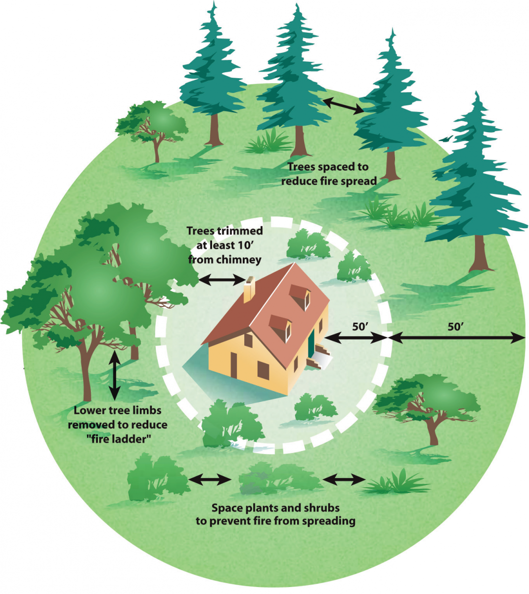 Wildfire preparedness for Building a defensible home