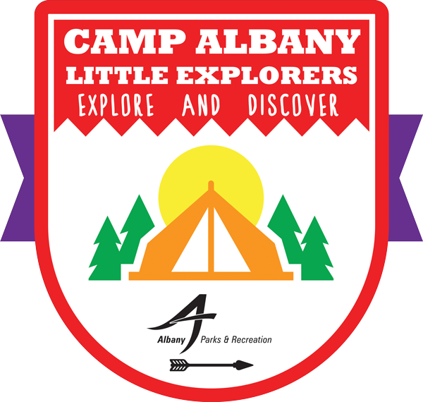 camp albany little explorers logo 2020