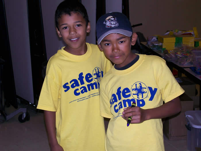 Boys at Safety Camp